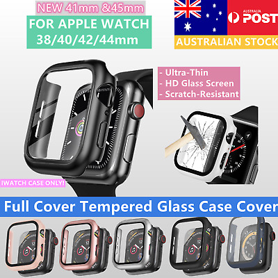 AU6.95 • Buy For Apple Watch Series 6/SE/5/4/3/2/1 Tempered Glass Case Cover Screen Protector
