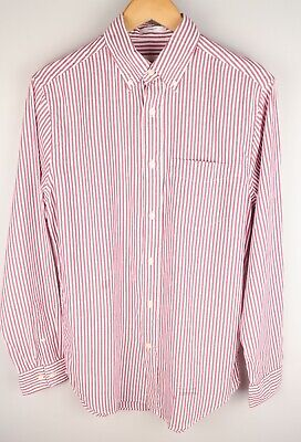 £23.95 • Buy Gant Rugger Men Casual Shirt Loose Fit Striped Red Cotton Size S