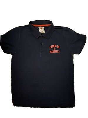 Boys Franklin & Marshall Navy Polo Top Aged 6-7 Years • 2.25£