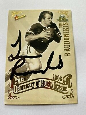 AU89.99 • Buy Rugby League Legend Tommy Raudonikis Signed 2008 Top 100 Trading Card