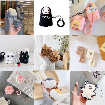 £3.59 • Buy Cartoon Cute Silicone Charging Case Skin Protective Cover For AirPods 1/2 Pro