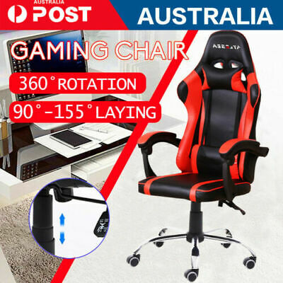 AU95.50 • Buy Executive Gaming Chair Racer Recline Chairs PU Leather Or Mesh Office Chairs