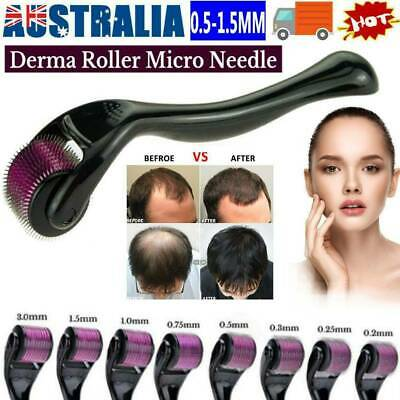 AU9.64 • Buy 540 Titanium Micro Needle Derma Roller Beard Hair Growth Skin Care 0.5-1.5MM