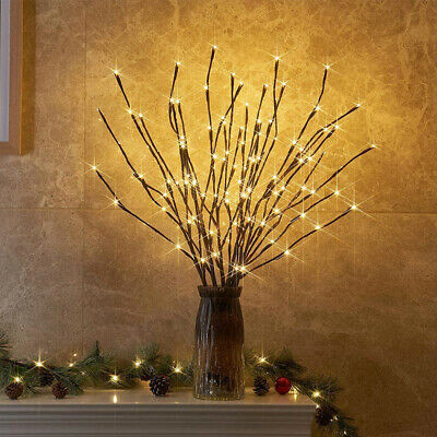 60LEDs Twigs Branch Lights Romantic Willow Branches Lamp USB Plug-in Vase Decor • 9.71£