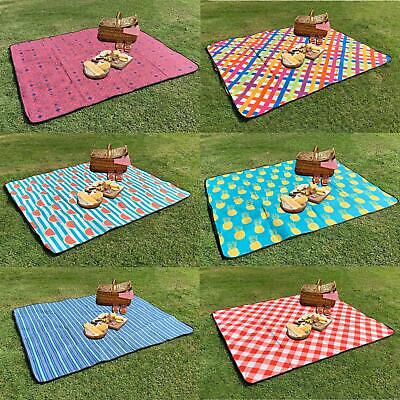 Large Picnic Blanket Beach Mat Camping Rug Travel Foldable Outdoor Sand Free • 9.49£