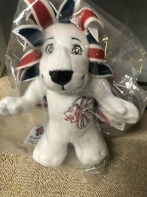 Team GB Pride The Lion Mascot Plush Toy Olympics Brand New Tagged And Bagged • 10£