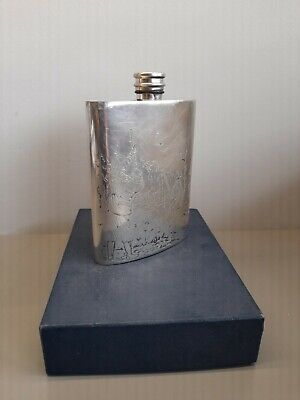 £9 • Buy 6oz Pewter Hip Flask With Shooting Scene Pheasant