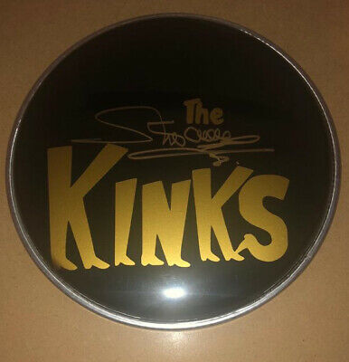 "Signed Mick Avory The Kinks 8"" Black Drum Head Rare Ray Davies Sunny Afternoon • 79.99£"