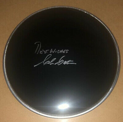 "Signed Clem Cattini 8"" Black Drum Head Rare The Tornados Telstar Authentic Beck • 69.99£"