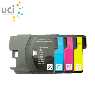 £4.89 • Buy 4 Ink Cartridge Fits Brother LC1100 LC980 DCP-385C DCP-395CN DCP585CW DCP-6690CW