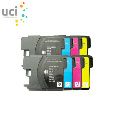 £5.79 • Buy 8 Ink Cartridge Fits Brother LC1100 LC980 DCP-385C DCP-395CN DCP-585CW DCP6690CW