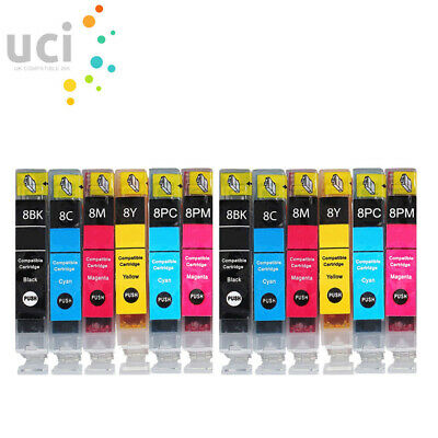 £8.79 • Buy 12 X Ink Cartridges For Canon PIXMA IP6600D IP6700D MP950 MP960 MP970 & Pro 9000