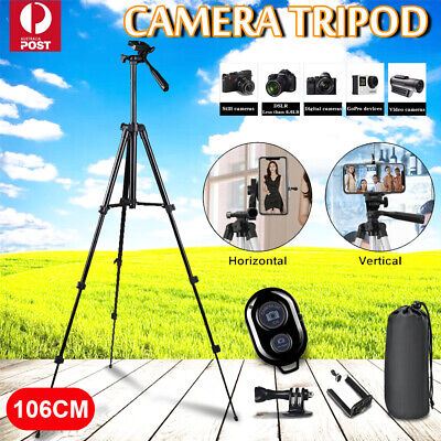 AU6.99 • Buy Professional Camera Tripod Stand Mount Phone Holder For IPhone DSLR Travel AU
