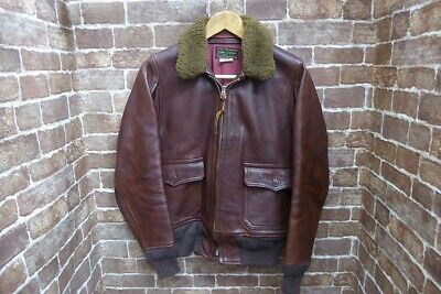 $826.99 • Buy THE REAL McCOY'S Authentic M-422A Leather Flight Jacket Brown 34 Used From Japan