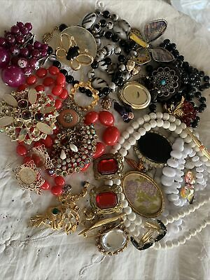 Collection Job Lot Vintage 1950s/60s  Costume Jewellery Spares/repair • 7.99£