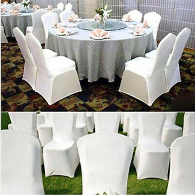 £159.95 • Buy 50/100 Chair Covers Spandex Lycra Cover Wedding Banquet Anniversary Party Decor