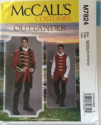 £12.50 • Buy McCalls 7824 Mens Jacket Gilet Buttons Military Collar Costume New Uncut Pattern
