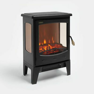 Black 1800 Fireplace Electric Heater Log Burning Flame Effect Living Room Stove  • 79.99£