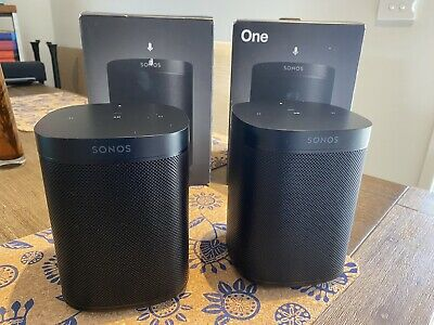 AU430 • Buy Pair Of Sonos One Wireless Smart Speaker - Black -  Gen 2- Smart Assistant