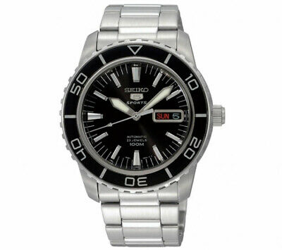 $ CDN229.23 • Buy Seiko 5 Sports Automatic Black Dial Stainless Steel Men's Watch SNZH55