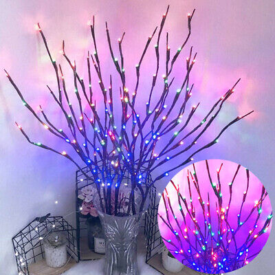20 LED Branch Twig Lights Light Up Willow Tree Branches Home Outdoors Decoration • 5.99£