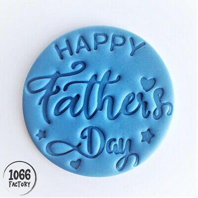 £4.95 • Buy Happy Fathers Day Embosser Stamp HF06 For Fondant Cake Cookie Biscuit