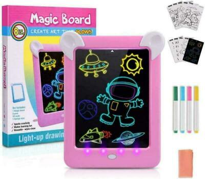 AU19.99 • Buy UK Toys For 3 4 5 6 7 8 9 10 Year Old Girls, LED Writing Tablet Birthday Gifts
