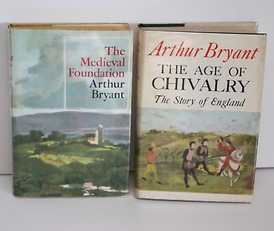 £6.50 • Buy Medieval Foundation And Age Of Chivalry By Arthur Bryant 2 Volume Hardback Set
