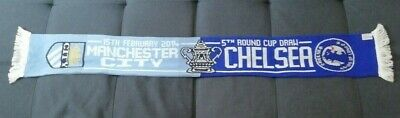 Manchester City V Chelsea 15th February 2014 FA Cup Fifth Round Match Scarf • 7.99£