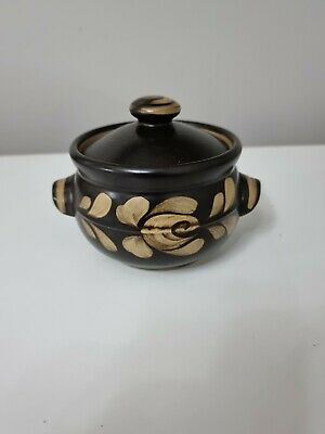 £12.99 • Buy Denby Bakewell Brown Casserole Dish With Lid Floral Small