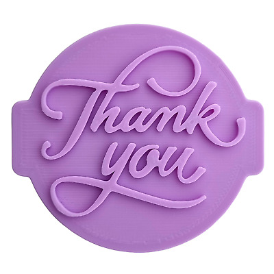 £4.95 • Buy Thank You - T01 Embosser Stamp Fondant Cupcake Icing Cookie