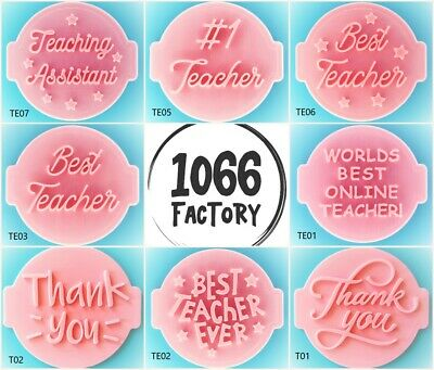 £4.95 • Buy Teacher Father Love Thank You Embosser Stamp For Fondant Cupcake Icing Cookie