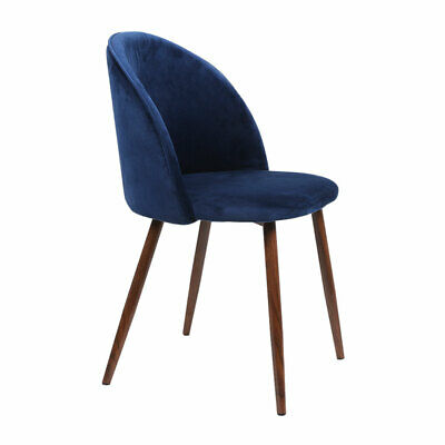 AU144.50 • Buy 2 Velvet Dining Chairs Steel Frame Lunch Waiting Meeting Room Foyer Kitchen Navy
