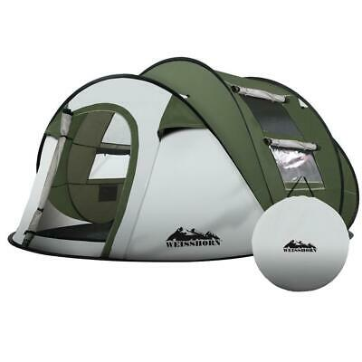 AU130.90 • Buy Weisshorn Instant Up Camping Tent 4-5 Person Pop Up Tents Family Hiking Beach Do
