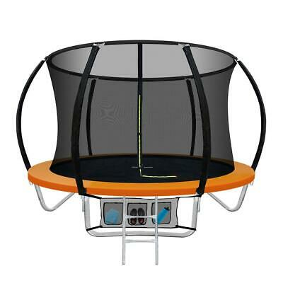AU390.50 • Buy 8FT Trampoline Round Trampolines Kids Present Gift Enclosure Safety Net Pad Outd