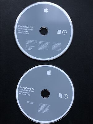 Apple Powerbook G4 15-inch And 17-inch Software Install And Restore 10.3.4  • 10£