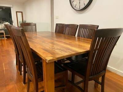 AU695 • Buy Hardwood 8-seater Dining Table And Chairs