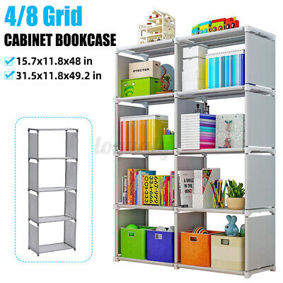 AU49.77 • Buy 4/8 Cube Storage Shelf Rack Bookcase Cabinet Organizer Bookshelf Book Display