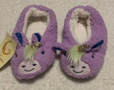AU26.15 • Buy PJ Couture Purple Unicorn Slippers New With Tags Size 7-8 M