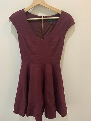 AU9 • Buy Forever New Dress 6 Burgundy
