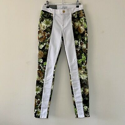 AU20 • Buy 7 For All Mankind Floral Panel Skinny Jeans Size 27