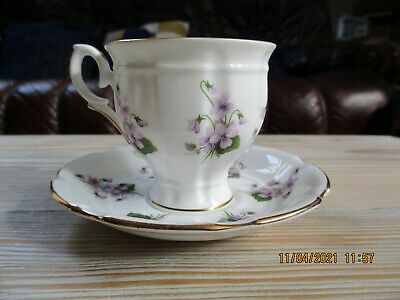 £8.95 • Buy A Vintage Crown Staffordshire Floral Coffee Cup And Saucer Duo