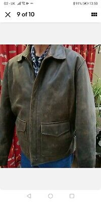 Wested Leather Jacket 1940s 1950's Replica Indiana Jones  • 99£