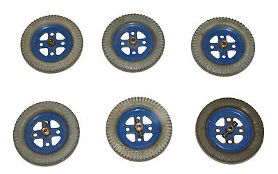 6x Meccano 2  Pulleys And Grey Tyres • 1.99£