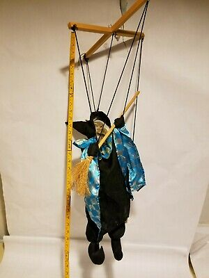 $ CDN11.24 • Buy Halloween Clearance Decorations 33  Marionette Witch Broom Props Decor Scary