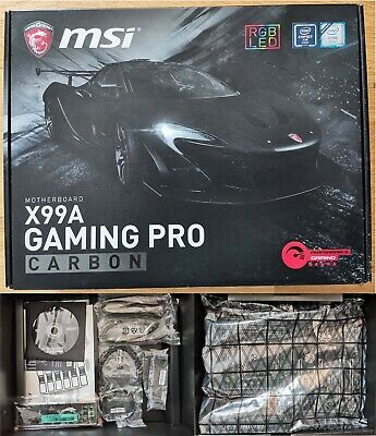 AU87.83 • Buy Motherboard MSI X99A Gaming Pro Carbon (socket 2011-3)
