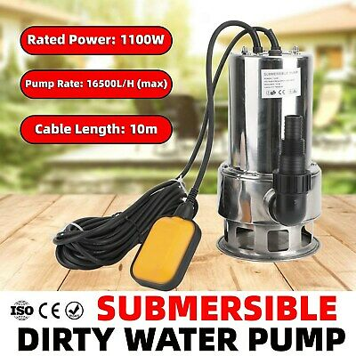 AU95.99 • Buy 1100W Submersible Dirty Water Pump Bore Tank Well Steel Automatic AU