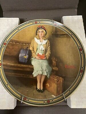 """$ CDN10.03 • Buy Norman Rockwell 1985 Limited Edition """"A Young Girl's Dream"""" Collector Plate"""