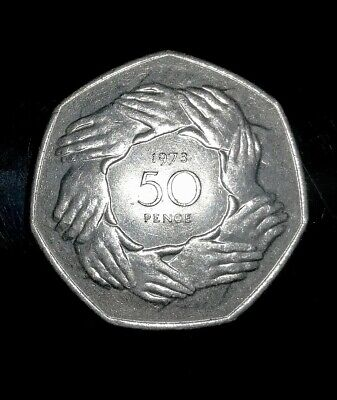 £2.35 • Buy 1973 Ring Of Hands EEC EU 50p Coin *Rare* Individual Coins For Sale, Brexit