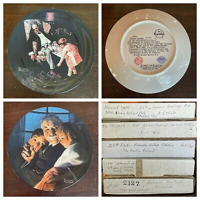 $ CDN124.28 • Buy Norman Rockwell Heritage Collection Plates By Knowles Limited Edition Lot Of 23